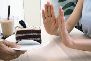 cut down on carbs by refusing to eat cake