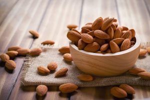 Almonds are a good source of iron