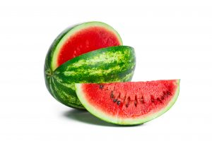 Watermelon will help you lose extra inches around the waist with its low-calorie (47/cup), high-water (82%) content