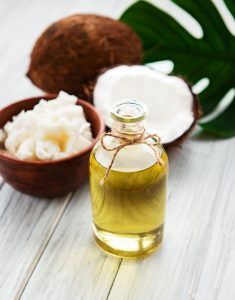 Coconut oil is a rich source of medium-chain fatty acids (MCFAs) that are absorbed and metabolized quickly in the body to provide nutrition and energy