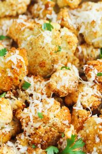 Garlic Parmesan Roasted Cauliflower is a perfect low-carb side dish for any occasion
