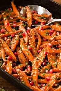 Honey Maple Roasted Carrots is are an easy veggie dish