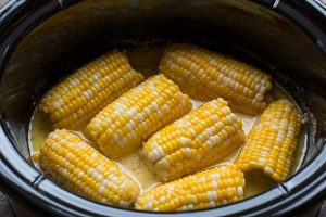 Slow Cooker Milk and Honey Corn on the Cob is a sweet and buttery side dish