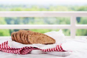 healthy whole grain bread slices