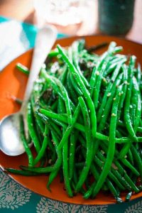 Simple skillet green beans are a perfect healthy side dish