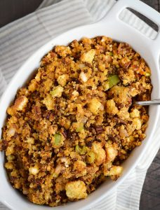 Spice-up dinner with this delicious ChorizoCornbread Stuffing