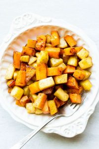 Sweet Potatoes and Apples Maple Cinnamon is a perfect fall side dish