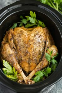 You can actually cook an entire turkey in your Crock-Pot for Thanksgiving
