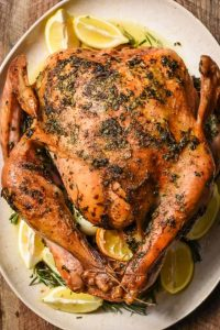 Garlic and Herb Roasted Turkey is oven roasted and will not take much of your time