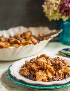 Fig and Pancetta Stuffing is the simple Thanksgiving stuffing side dishes that you will love