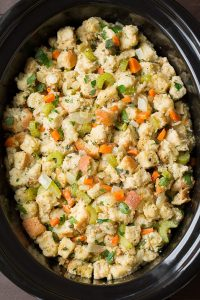 Enjoy the homemade freshness of this Thanksgiving Slow Cooker Stuffing Crockpot goodness