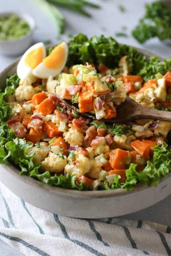 Roasted Cauliflower Sweet Potato Salad