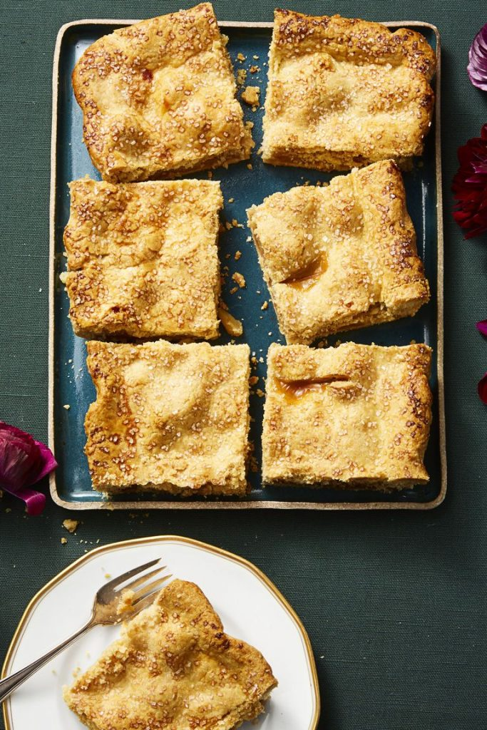 Thanksgiving Dessert Sparkly Apple Slab Pie