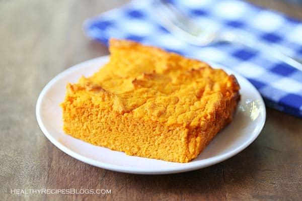 Thanksgiving Vegetarian Carrot Souffle