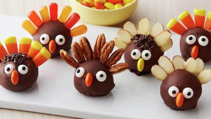 Turkey Cookie Truffles