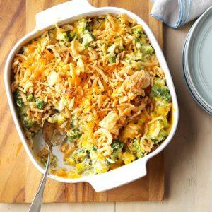 Cheesy Cheddar Broccoli Casserole as thanksgiving dish