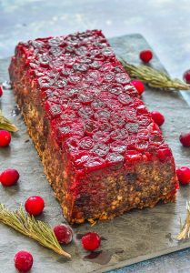 Mushroom Lentil Loaf With Cranberries
