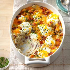 Loaded Red Potato Casserole as thanksgiving dish