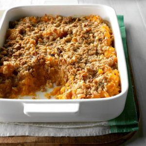 Maple Winter Squash Casserole as thanksgiving dish