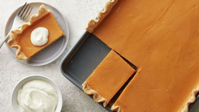 Sweet Potato Slab Pie with Marshmallow Whipped Topping