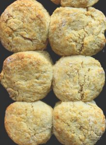 Fluffy, buttery vegan biscuits