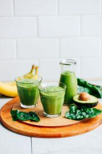 Avocado Banana Green Protein Smoothie