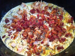 Chicken Bacon Crock Pot Chowder