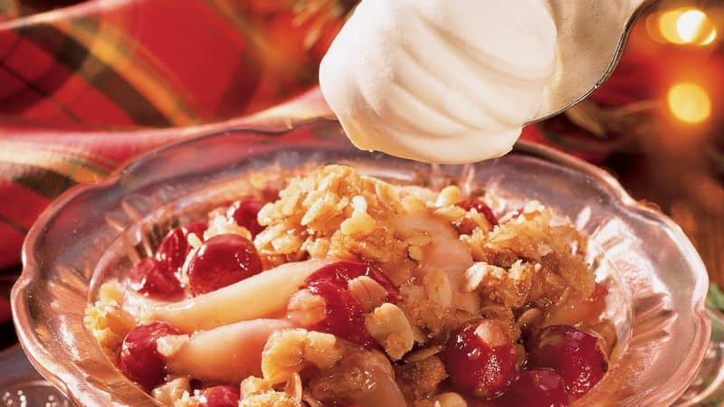 Thanksgiving Pear-Cranberry Crisp