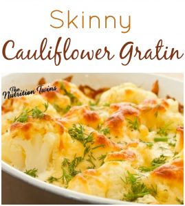 Thanksgiving Vegetarian Skinny Cauliflower Gratin