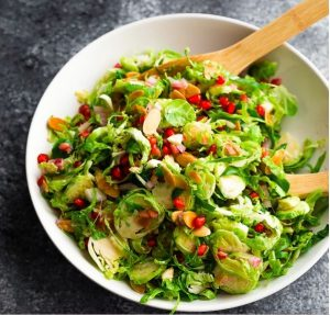 Shaved Brussels Sprouts Salad With Pomegranates