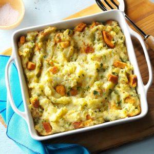 Potato Stuffing Casserole as thanksgiving dish