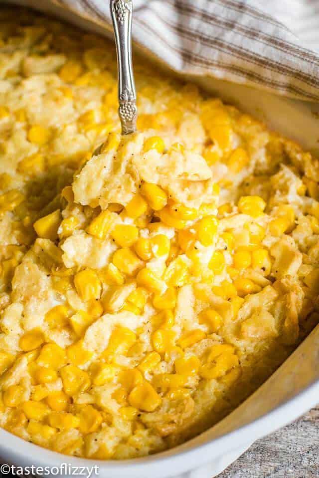 Thanksgiving Vegetarian Scalloped Corn Casserole