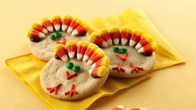 Thanksgiving Dessert Turkey Cookies