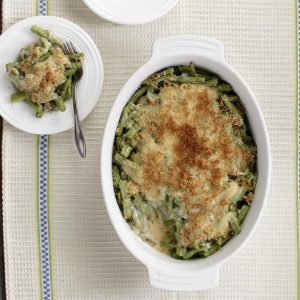 Thanksgiving Vegetarian Healthy Green Bean Casserole