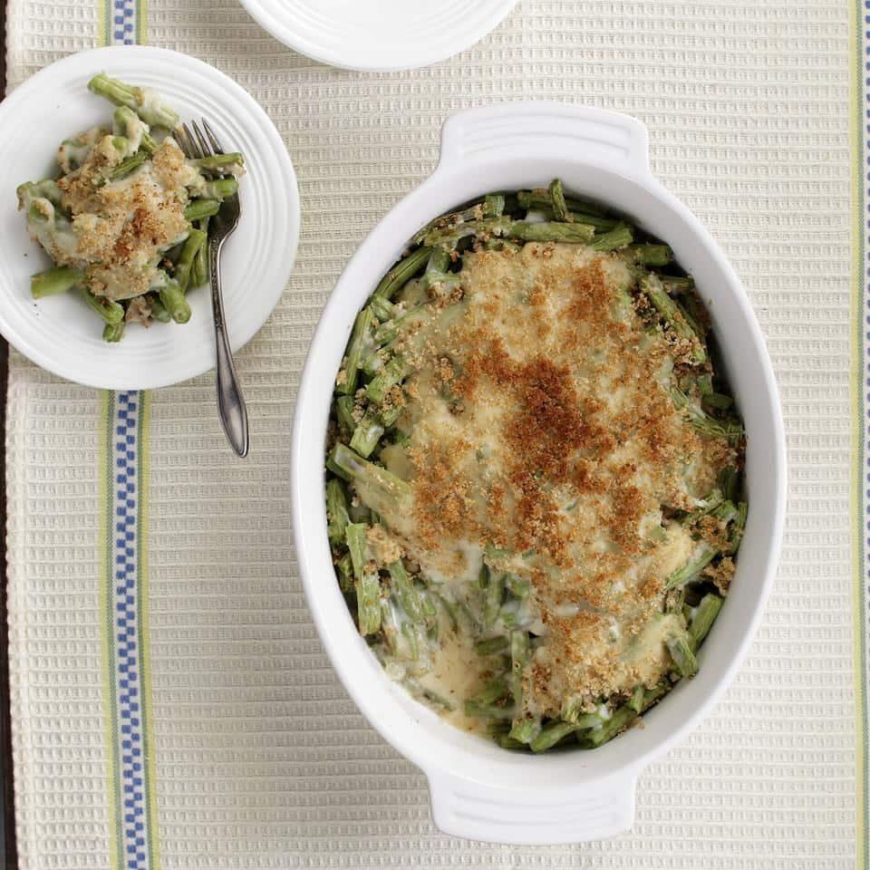 Thanksgiving Vegetarian Healthy Green Bean Casserole