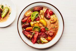 Oregano-Marinated Tomato Salad