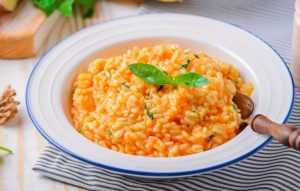 Thanksgiving Vegetarian Vegan Pumpkin Risotto