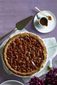 Salted Caramel Pecan and Chocolate Pie