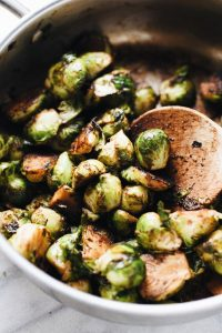 Balsamic Sautéed Brussels Sprouts