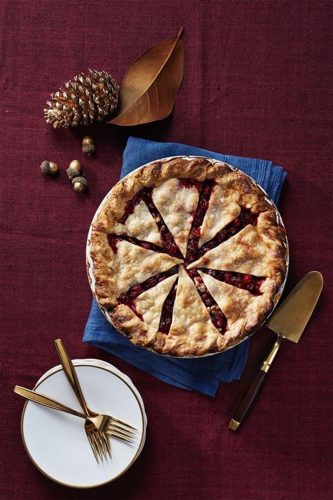 Thanksgiving Dessert Cranberry Pie