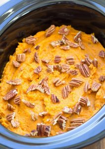 Thanksgiving Healthy Slow Cooker Sweet Potato Casserole