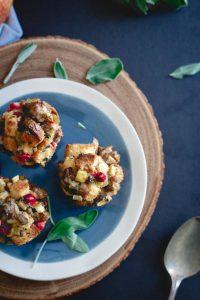 Sausage Cranberry Apple Stuffing Muffins