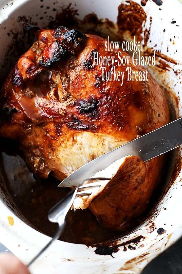 Slow Cooker Honey-Soy Glazed Turkey Breast
