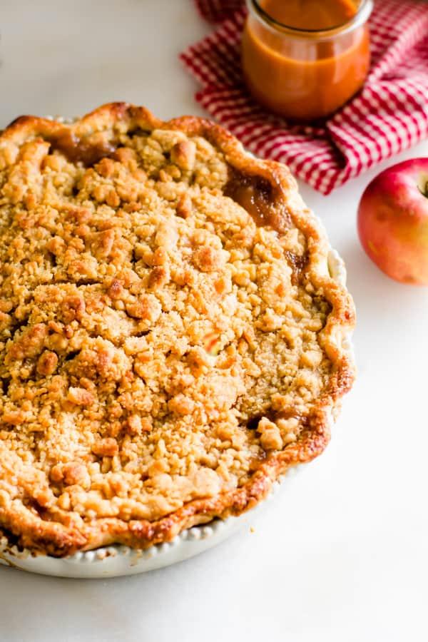 Thanksgiving Vegetarian Dutch Caramel Apple Pie