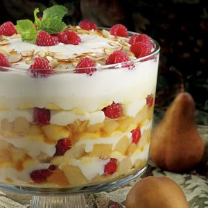 Thanksgiving Vegetarian Roasted Pear Trifle