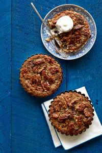 Mini German Chocolate Brownie Pecan Tarts