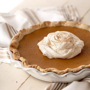 Thanksgiving Vegetarian Pumpkin-Maple Pie