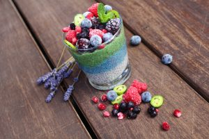Rainbow Low Carb Chia Pudding