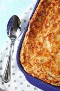 Garlic Parmesan Mashed Potato Casserole