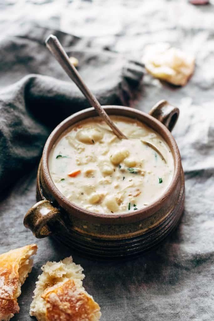 Healthy Thanksgiving Crockpot Chicken Gnocchi Soup